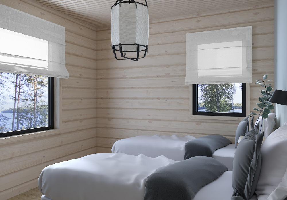 Makuuhuoneet ja saunatupa